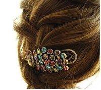 2016 ювелирных изделий оптовая продажа зажим для волос великолепный павлин волосы восстановления древних способов понять