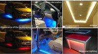 5 м / лот RGB на 5050 СМД 30 светодиоды / м DC12V из светодиодов GI поло фары из светодиодов ленты + IC-пульт диктант