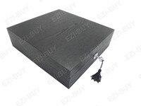 прямые эдг коллекции коробка, полная черный 3 х 4 сетки часы drain подарок коробка