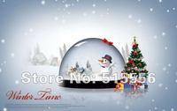 250гсм 4 цветной печать Рождественский открытка от производителя