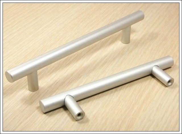 10pcs Furniture Hardware Solid Aluminum Kitchen T Bar Handles And