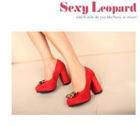 милая мода толстые туфли на высоком каблуке внутри платформа леди туфли с бабочка