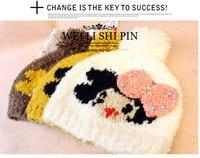 новый стиль рождество / рождество горяч-продавая женщин / девочек жемчужный бантик смайлик вязаные шапки китай кукла 8229 шляпа опт/розница