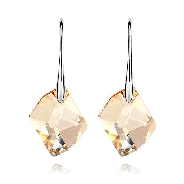 Women S White Gold Color Made With Swarovski Elements Champagne Heart Of The Earth Crystal