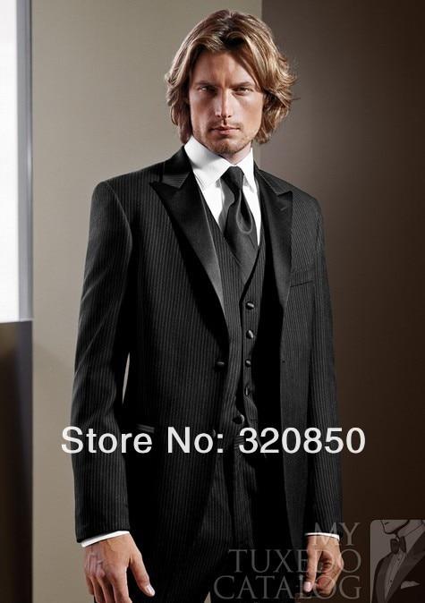 Mens white stripe suits 2013 New Arrival BLACK \'INFINITY\' TUXEDO Men ...