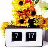 уникальный ретро куб хороший стол стены автопереворота часы новинка черный бесплатная доставка