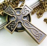 бесплатная доставка новый урожай классический крест Carmen colon часы часы ожерелье для мужчин