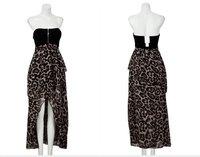 бесплатная доставка сексуальное дамы новинка платье спинки леопард платье-труба платье 1 шт. 2 цветов