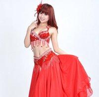 бесплатная доставка ] 828# сексуальная женщины профессиональный танец живота производительность костюм 2 шт. бюстгальтер + пояс 9 цвета, свободный размер
