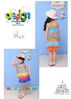 новый лето мода Post дизайн рукавов девушка платья дети детская одежда девушки платье бесплатная доставка k0066