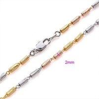 jewrlry женщины / мужчины 18 к золото салон два анти-тон цепь ожерелье ювелирные изделия ювелирные цепь ожерелье подарок ювелирные изделия