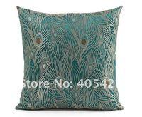349 новая мода китайский синий цвет павлин дизайн подушки без заполнения диван-кровать главная номер декабря оптовая