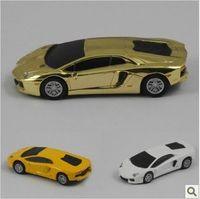 4 гб 8 гб 16 гб 32 гб металл золотисто-желтая белый мини гоночный автомобиль форма USB 2.0 флэш-прямая поставка прямая поставка