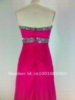 шифон ткань складки и бисером ручной работы вечернее платье без бретелек ч-91098