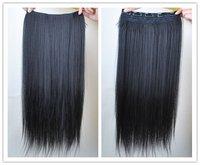1 шт. / пакет 22 ' 7 цветов девочка клипы в наращивание волос прямой парики куски пп18