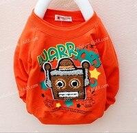 осень новая детская робот шею с длинным рукавом оказать без подкладки верхней одежды # 1345
