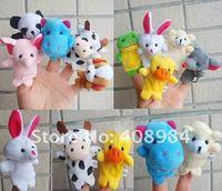 10 шт./лот животных пальцем кукольный, плюшевые кукольный игрушка