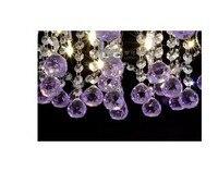 бесплатная доставка к9 rustle блеск, dia60cm * ч 200 см современные освещение, 9 огни, фиолетовый кристалл
