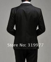 официальный мужчины в костюм костюмы ternos приталенный один - пуговица корейский костюм комплект куртка + брюки цветов черный