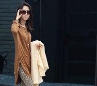 бесплатная доставка новый стиль кориа женщин большие размеры мода элегантный цельный платье основные рубашка # w035