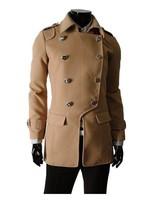 бесплатная доставка бесплатная доставка мужская классический - шерсть характеристики разрез сомнения, пальто пыли / / куртка