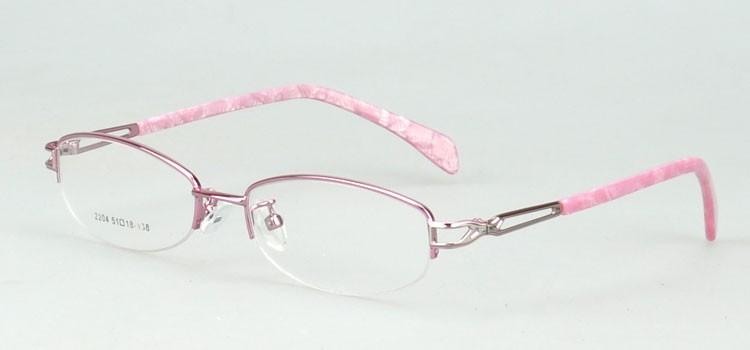 2204-pink lovely optical frame for girls