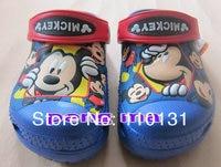 бесплатная доставка новый микки детские тапочки, сандалии * размер : 6c7-12c13 синий