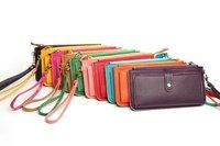 женская кожа PU сумка, мода сумочка, клатч, 10 цветов бесплатная доставка бумажник сумки cardbags кошелек бесплатная доставка