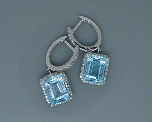 Blue Topaz Earrings W379d