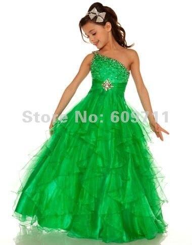 Vestidos de fiesta para ninas verde jade