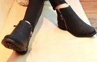 мода женская staring стороны молнии ботинки мартин bolton кожа женские туфли бесплатная доставка # ws8814