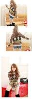 горячая свободного покроя с V-воротник летучая мышь свободно свитер многоцветный ВФ-0220