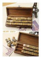 бесплатная с31-148 42 шт. / комплект творческие буквы и цифры штамп подарок коробка марка / деревянный ящик / декоративные поделки смешная / оптовая продажа