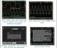 цифрового осциллографа hantek dso8060 портативный осциллограф ручной цифровой мультиметр осциллограф USB и жк-дисплей 60 мгц 2 каналы цифрового анализатора спектров