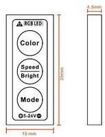 вольтовый dc5-24 в светодиодный мини три ключи Сид RGB контроллер вольтовый dc5-24 в 2а * 3 канала, 30 вт/72 вт/144 вт