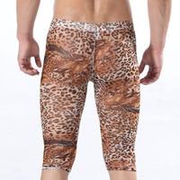 специальные мужская низкой талией сексуальное леопард у выпуклая сумка прекрасно марли брюки нижнее белье