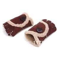мода зима теплая женские перчатки пальцев, меховой отделкой перчатки варежки 5 цвет ссг-362