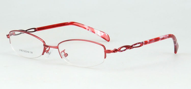 2192-red high quality optical frame with acetate temple