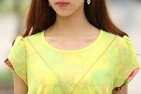 хl лето для женщины свободного покроя блузка рубашки элегантный вето повар база черный желтый ххl XXXL осенняя бесплатная