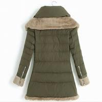 армия и зима женщин вниз пальто зима большой размер зима вниз пальто верхняя одежда теплый загущающие пальто европа для женщины