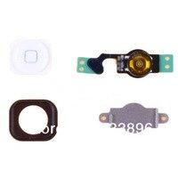 белый главная меню кнопка ключевые baseball + шлейф + содержат держателя + набор делать для iPhone 5 для 5G бесплатный/падение доставка