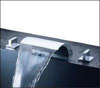 широкое водопад ванна кран ванная комната смеситель комплект 02734 роскошные твердой латуни кран