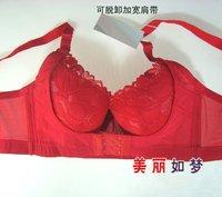 8135 бесплатная доставка, опт и розница, кружева без подкладки, сексуальное нижнее белье, красный, 32в чашку