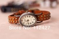 заклёпка часы Vintage Oval чехол часы кожа ремень свободного покроя наручные часы часы женщины платье часы ap233