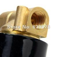 бесплатная доставка, нью-латуни AC 220 в электронный 1/4 дюйма электрический электромагнитный клапан для воздух вода газ