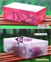прозрачные женская леди стекируемые кристалл цвет утолщение пластиковых ящики для хранения чехол организатор 7 цветов