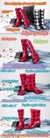 resin Natural каучука классические леопард туфли на блок смолаы кристалл дождь ботинки женский
