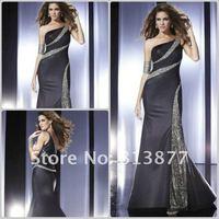 оптовая продажа, в последние мода красивые плечо бисером платье нарядное платье бесплатная доставка