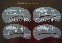 24 шт./лот бровей шаблон комплект 6 стиль бровей комплект составляют инструмент для бровей формирование