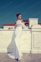 Seal видеть сквозь милая русалка старинные свадебные платья с открытой спиной Крюгера с длинным рукавом платье невесты новинка суд поезд